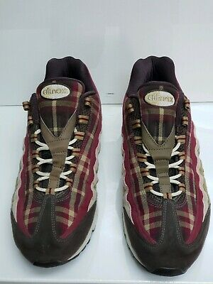 Nike Air Max 95 Plaid Baroque Brown Red Tan Mens Size 12 Rare 609048-261