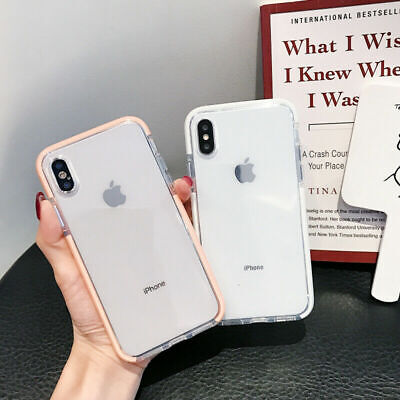 For iPhone 11 Pro Max 8 Plus XR Case Clear Soft Cute Silicone Shockproof Cover