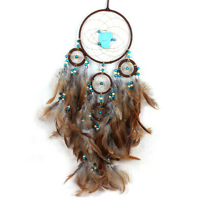 """6.1"""" Dream Catcher Feather Wind Chimes Car Ornaments Hanging Home Room Decor US"""