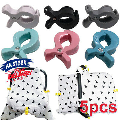 5Pcs Stroller Peg To TU Blanket Clip Hook Toy Pram Pegs Car Seat Cover Clips