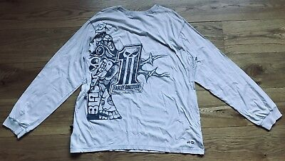 Harley-Davidson Dark Custom #1 Long Sleeve T-Shirt XXL Off White