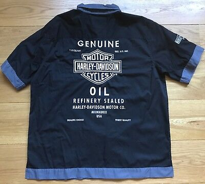 Harley-Davidson Oil  Mechanics Short Sleeve Shirt (XL)