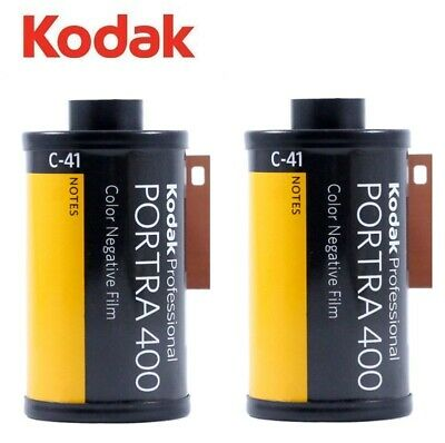 2  x Kodak PORTRA 400 ISO 35mm 135 36exp 135-36 Pro Color Negative Film - US