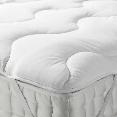100% Microfiber Quilted Mattress Topper Soft Single Double Super King Sizes