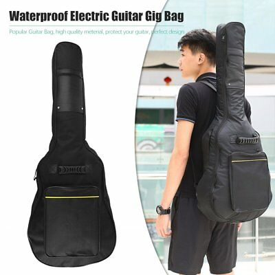 "41"" Acoustic Guitar Double Straps Padded Guitar Soft Case Gig Bag Backpack  8W"