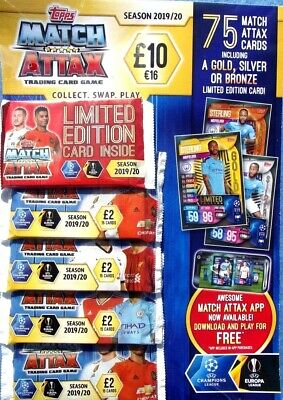 Match Attax Trading Card Multi Pack Season 2019 / 20  ~ 75 Cards Inc Lim Edition