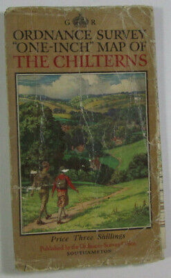 1932 OS Ordnance Survey One-Inch Special Popular Edition District Map Chilterns