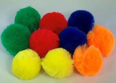 10 x LARGE ASSORTED 50mm POM POMS