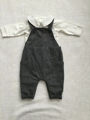 Mothercare Baby Boys Wool Dungarees Upto 1 Month Newborn Autumn 🍂 Winter ❄️