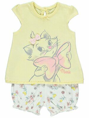 Disney Baby Girls The Aristocats Marie Floral Top and Shorts Outfit BNWT