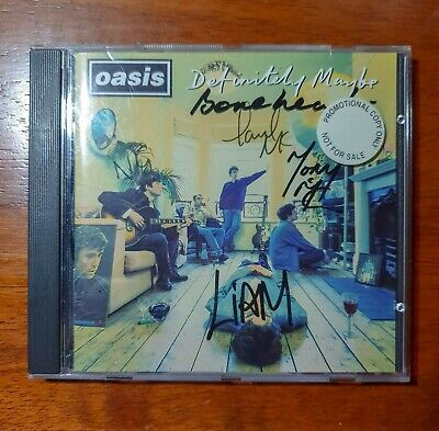 Oasis - Definitely Maybe Super RARE Promo CD Signed CRE CD 169