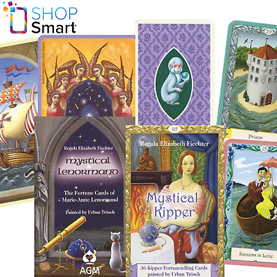 2 Deck  Mystical Lenormand And Mystical Kipper Oracle Esoteric Cards Agm New