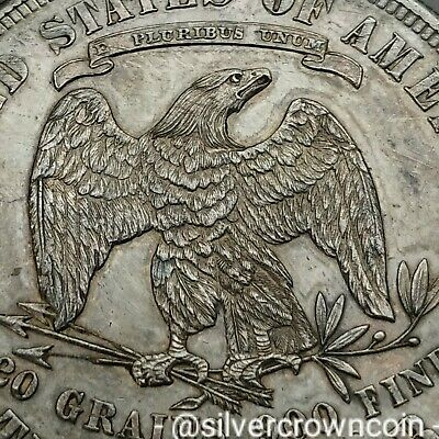 SCC USA Trade Dollar 1877S. KM#108. .900 Silver Crown Peso coin. Seated Liberty