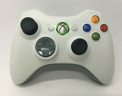 Genuine Microsoft Xbox 360 Controller - Official game pad, Black Sticks, cleaned