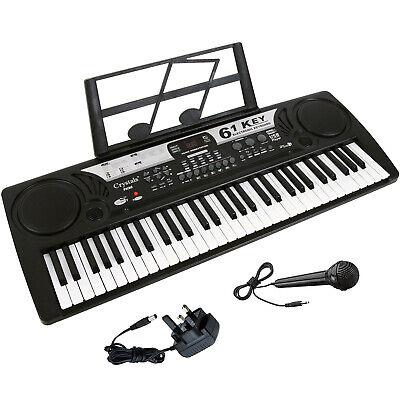Electronic Keyboard For Kids 61 Keys MP3 Musical Instrument Digital Piano + Mic