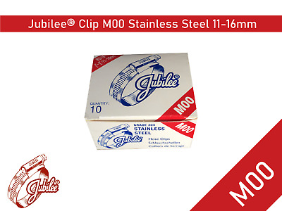 Stainless Steel Genuine Jubilee Hose Clamp Size 11-16mm Ref M00 Hose Clip