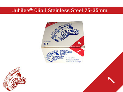 Stainless Steel Genuine Jubilee Hose Clamp Size 25mm-35mm Ref 1 Hose Clip