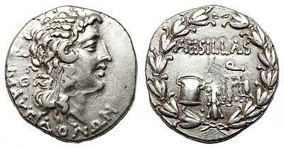 *AET* MACEDONIA under Roman Rule AR Tetradrachm. EF-. QUAESTOR AESILLAS.