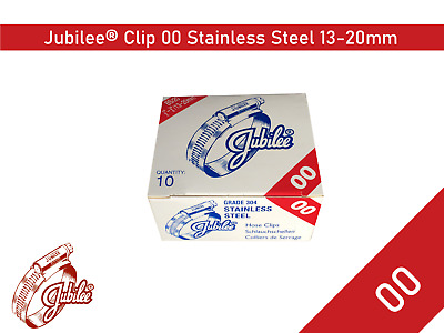Stainless Steel Genuine Jubilee Hose Clamp Size 13-20mm Ref 00 Hose Clip