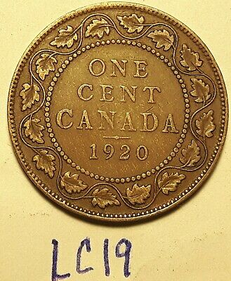 1920 Canada Large Cent King George V LC19a