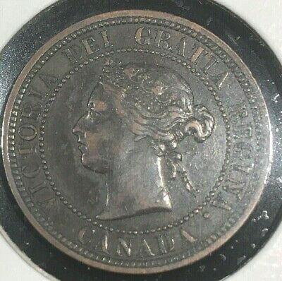 1881 H Canada Large One Cent From A Huge 'Collection' *Keep Following Us*