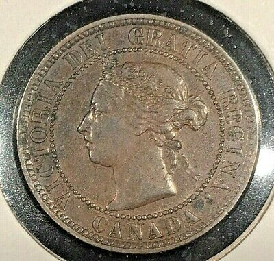 1884 Canada Large One Cent From A Huge 'Collection' *Keep Following Us*