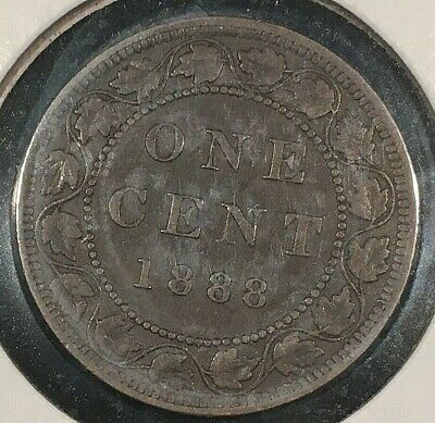 1888 Canada Large One Cent From A Huge 'Collection' *Keep Following Us*