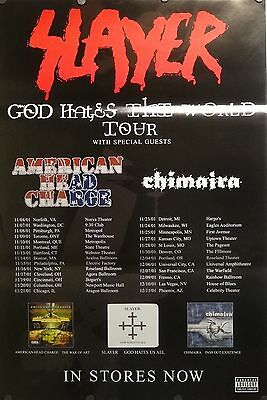 Slayer 24x36 God Hates The World Tour Promo Poster