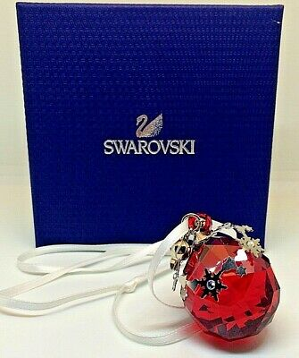 Swarovski Crystal Christmas Ornament Light Siam Satin 1144685 MIB W/COA