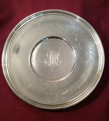 "Gorham Sterling Silver 9"" Plate 306.4 Grams"