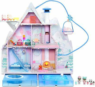 L.O.L. Surprise Winter Disco Chalet Doll House with 95+ Surprises * LOL dolls *