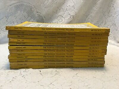 12 Vintage National Geographic Magazine 1957 Complete Year Set Great Coke Ads