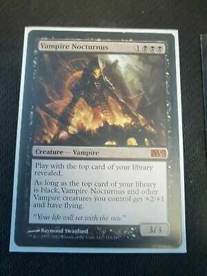MTG Magic the Gathering Magic 2013 Vampire Nocturnus Lp free shipping