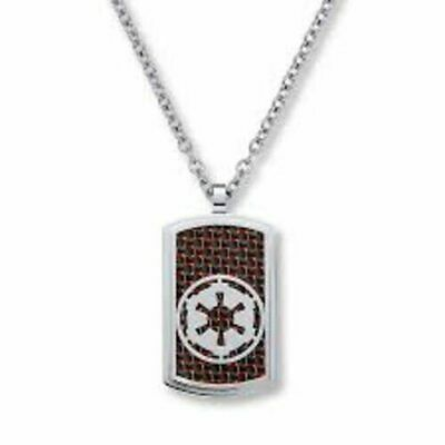 Star Wars Men's Necklace Pendant Empire Stainless Steel 24 Inch Chain