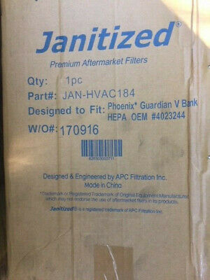 JANITIZED JAN-HVAC184 Phoenix Guardian V Bank HEPA (NEW)