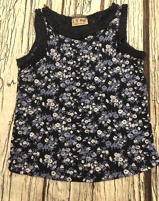 2-3 Years Navy Ditsy Floral Summer Vest Top Next Girls Blue Navy Hardly Worn