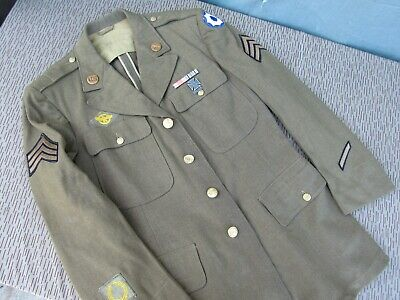 WWII US Enlisted 8th Service Command 4 Pocket Dress Tunic