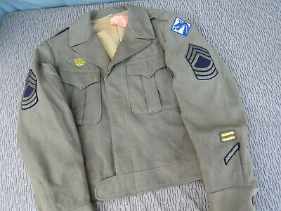 WWII US Enlisted 18th Army Corps Ike Jacket Named