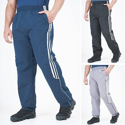 Mens Tracksuit Bottoms Jogging Trackies Joggers Striped Sport Lightweight S-2XL