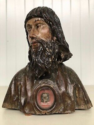 WINTER SALE!! Exceptional Saint Reliquary Bust  with relic of S Petri M  ca 1600