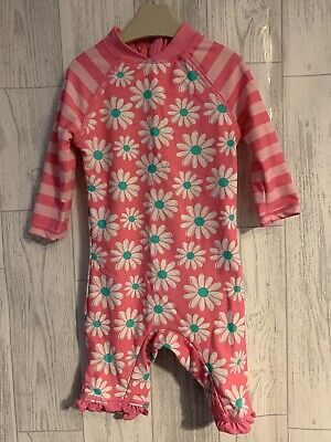 Girls Age 12-18 Months - All In One Sun Protection / Swimming Costume