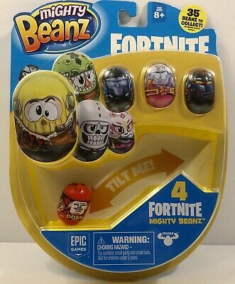 Mighty Beanz FORTNITE , Includes 4 Beanz. New, Factory Sealed, FREE SHIPPING