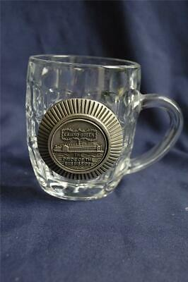 "Casino Queen Medallion Design Glass Coffee Mug ""The Pride of the Mississippi"""