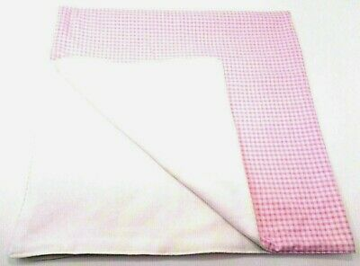 """Handmade """"Pink and White Gingham"""" 2 Layer Flannel Baby Blanket Swaddle 31"""" x 31"""""""