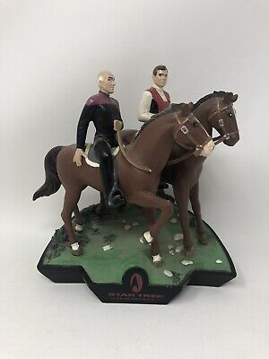 Vintage 1995 Star Trek Generations Kirk Picard Horse Back Riding Figure HTF