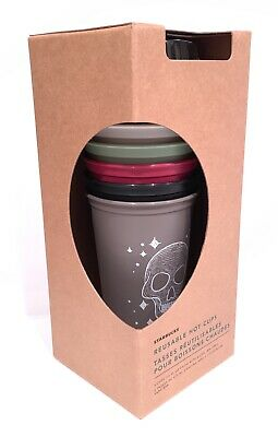 Starbucks Halloween 2019 Fall Reusable Hot Cups Limited Edition - Set Of 6