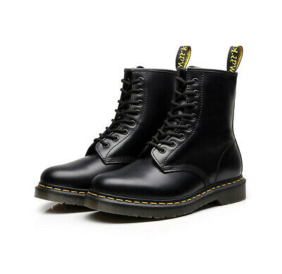 Free 2019 NEW Dr Martens 8-Eye Classic Airwair 1460 Leather Ankle Boots Unisex