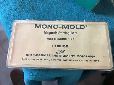 Vintage Cole-Parmer Mono-Mold Magnetic Stirring Bars 11 Total