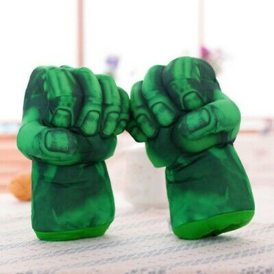 1/2x Kids Hulk Boxing Gloves Plush Toy Big Hand Gloves Play Toy Gift Party Prop