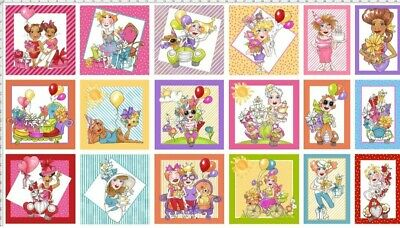 Loralie Designs * Its A Party Quilt Panel * New * Free Post *